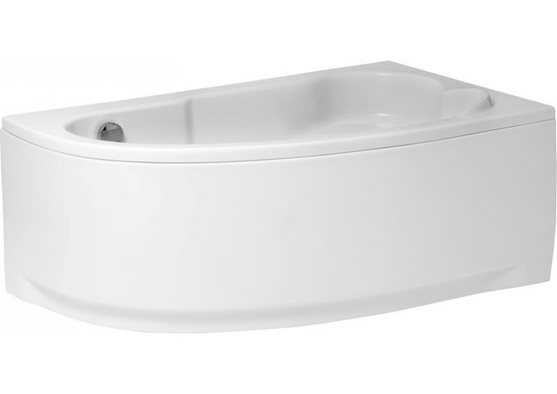 Acrylic housing for asymmetrical corner bathtub 140 x 80 cm right NOEL