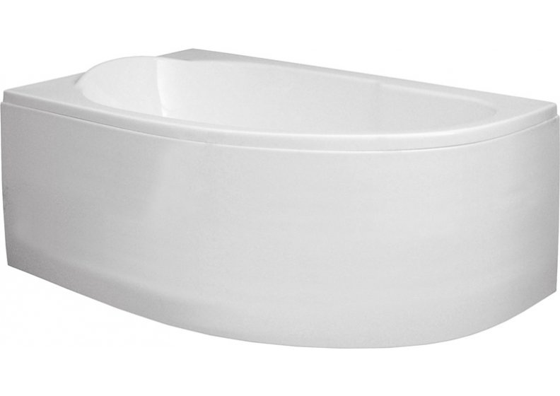 Acrylic housing for asymmetrical corner bathtub 145 x 85 cm universal MIKI