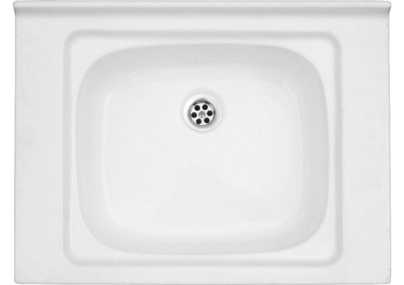 Acrylic sink 60 x 45 cm  sigle bowl top mount