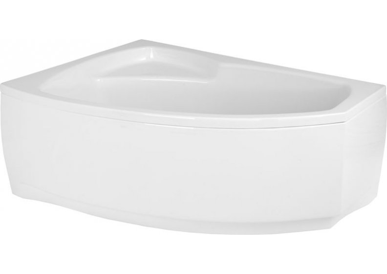 Acrylic housing for asymmetrical corner bathtub 150 x 100 cm left FRIDA 1