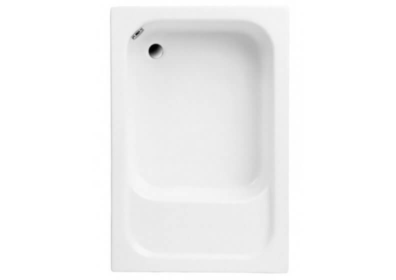 Acrylic rectangular shower base 120 x 80 x 26 cm with seat RONI
