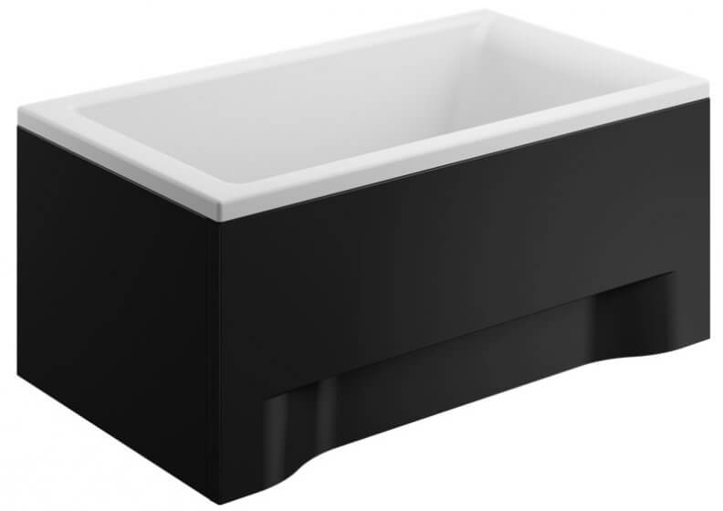 Acrylic housing for rectangular bathtub – front panel 120 cm CAPRI BLACK
