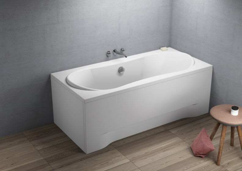 Acrylic rectangular bathtub LONG