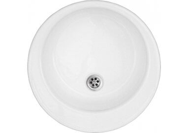 Acrylic round sink 48 cm top mount