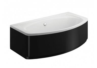 Acrylic housing for rectangular bathtub – side panel 75 cm  size 52 cm BLACK