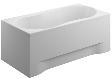 Acrylic housing for rectangular bathtub - front panel  170 cm size 52 cm