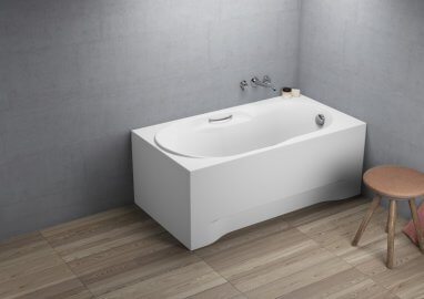 Acrylic rectangular bathtub LUX