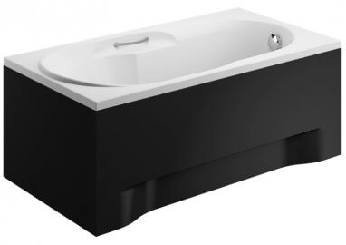 Acrylic housing for rectangular bathtub – side panel 75 cm  size 51 cm BLACK