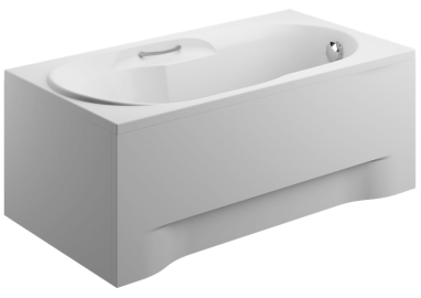Acrylic housing for rectangular bathtub - side panel  75 cm size 51 cm