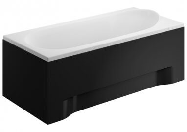 Acrylic housing for rectangular bathtub – front panel 190 cm MEDIUM BLACK