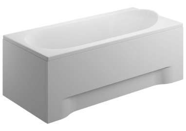 Acrylic housing for rectangular bathtub - side panel  75 cm size 52 cm