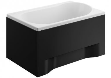 Acrylic housing for rectangular bathtub – front panel 110 cm size 51 cm BLACK