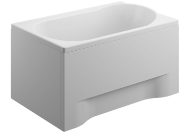Acrylic housing for rectangular bathtub - side panel  65 cm size 51 cm
