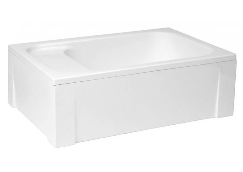 Acrylic housing for rectangular shower base 120 x 80 x 26 cm RONI
