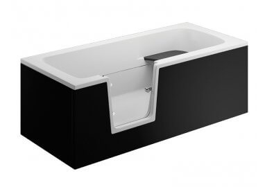 Acrylic panel for the bathfub VOVO - front panel 180 cm black