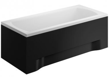 Acrylic housing for rectangular bathtub – front panel 180 cm size 58 cm BLACK