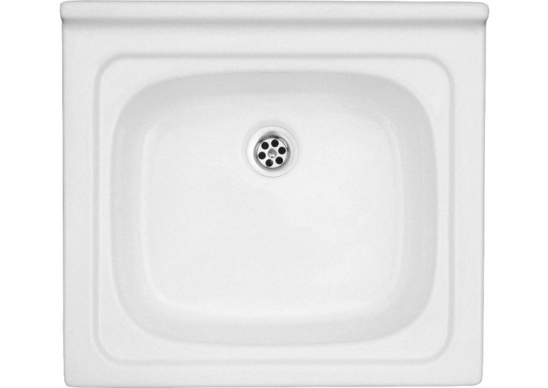 Acrylic sink 52 x 47 cm sigle bowl top mount