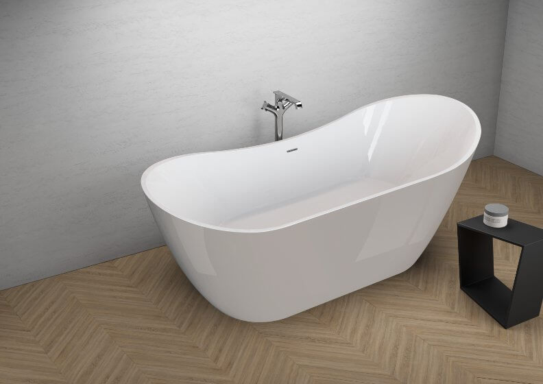 Acrylic freestanding bathtub ABI GREY 180 x 80 cm