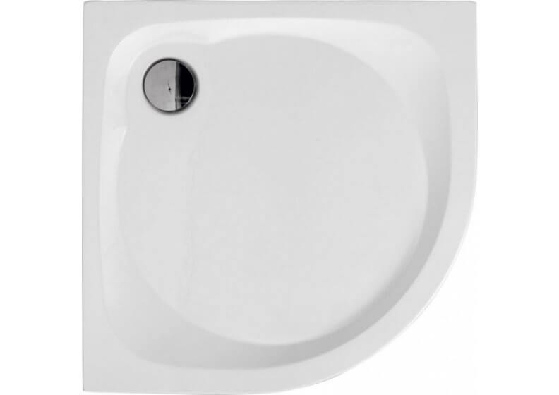 Acrylic semicircular compact shower base NOWY STYL