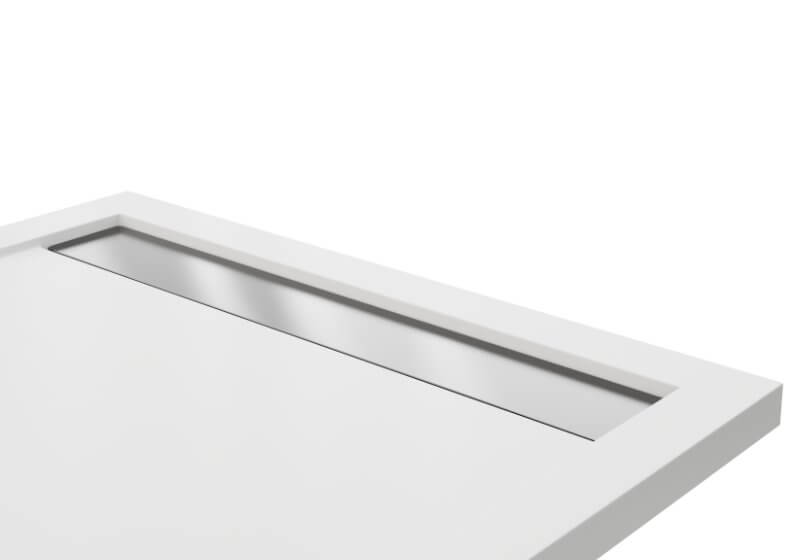 Grate for shower tray WEST NEW brushed stainless steel