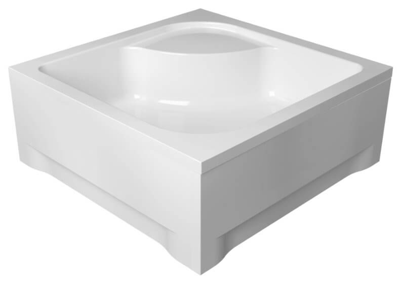 Acrylic housing for square shower base 80 x 80 x 24 cm TAKO