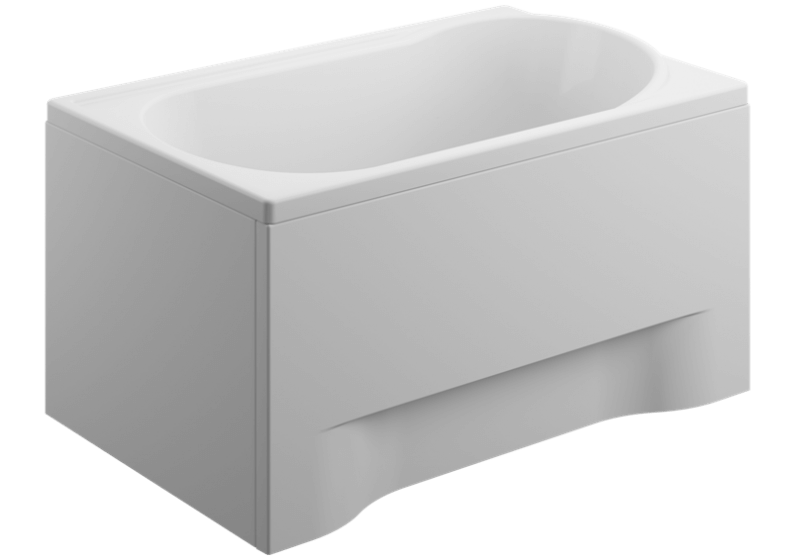 Acrylic housing for rectangular bathtub - side panel  70 cm size 51 cm