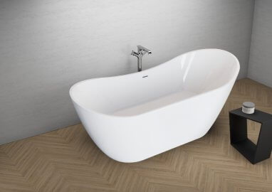 Acrylic freestanding bathtub ABI WHITE 180 x 80 cm