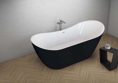 Acrylic freestanding bathtub ABI BLACK MATT 180 x 80 cm