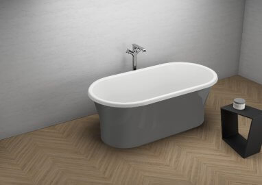 Acrylic freestanding bathtub AMONA NEW GRAPHITE 150 x 75 cm