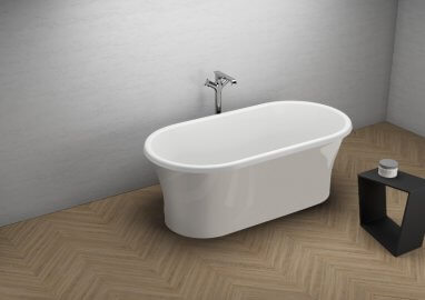 Acrylic freestanding bathtub AMONA NEW GREY 150 x 75 cm