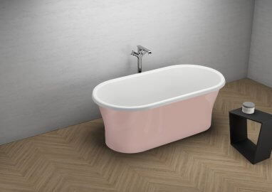 Acrylic freestanding bathtub AMONA NEW PINK 150 x 75 cm