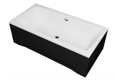 Acrylic housing for rectangular bathtub - front panel 140 cm size 42 cm BLACK