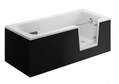 Acrylic panel for the bathfub AVO - front panel 160 cm black