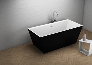Acrylic freestanding bathtub LEA BLACK matt 170 x 80 cm