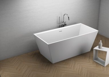 Acrylic freestanding bathtub LEA WHITE 170 x 80 cm