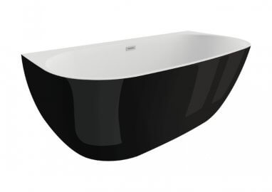 Acrylic freestanding bathtub RISA BLACK SHINE 170 x 80 cm