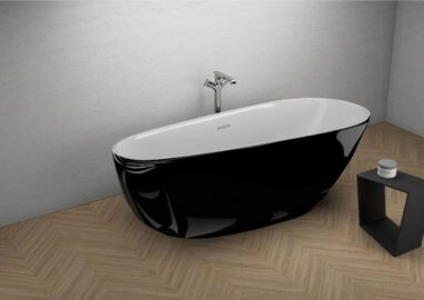 Acrylic freestanding bathtube SHILA BLACK shine