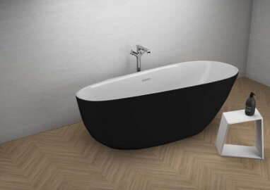 Acrylic freestanding bathtube SHILA BLACK matt