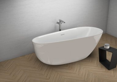 Acrylic freestanding bathtub SHILA GREY 170 x 85 cm