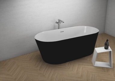 Acrylic freestanding bathtube UZO BLACK MATT 160 x 80 cm