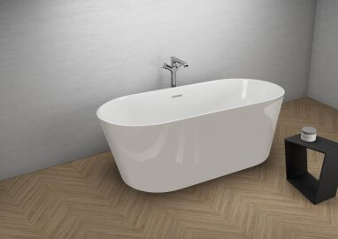 Acrylic freestanding bathtub UZO GREY 160 x 80 cm