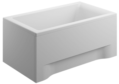 Acrylic housing for rectangular bathtub - front panel  120 cm CAPRI