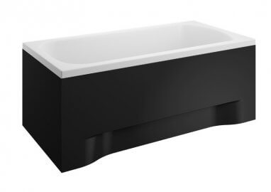 Acrylic housing for rectangular bathtub - side panel 80 cm size 58 cm black