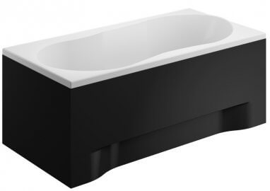 Acrylic housing for rectangular bathtub – front panel 170 cm size 52 cm BLACK